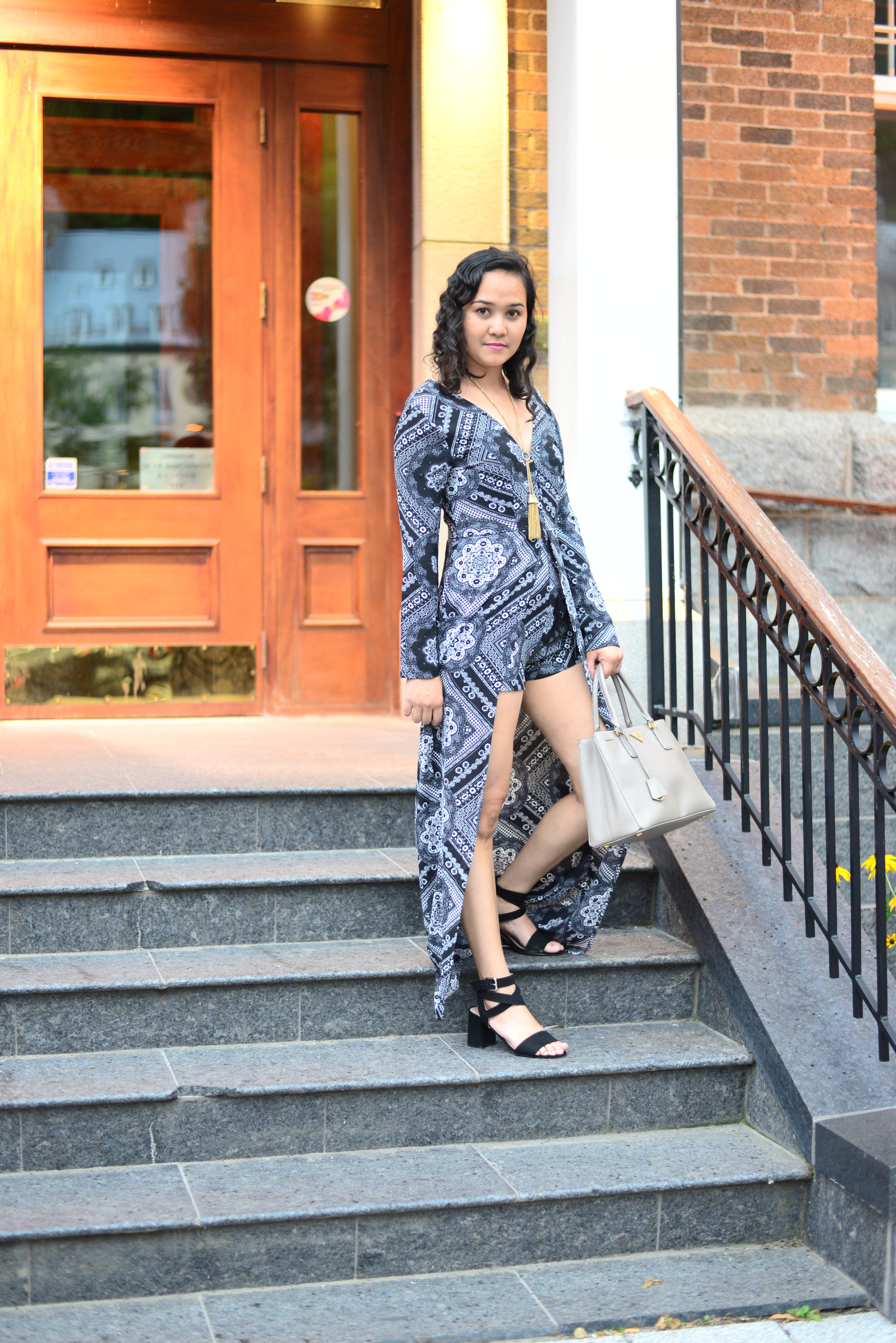 How to Wear an Overlay Playsuit