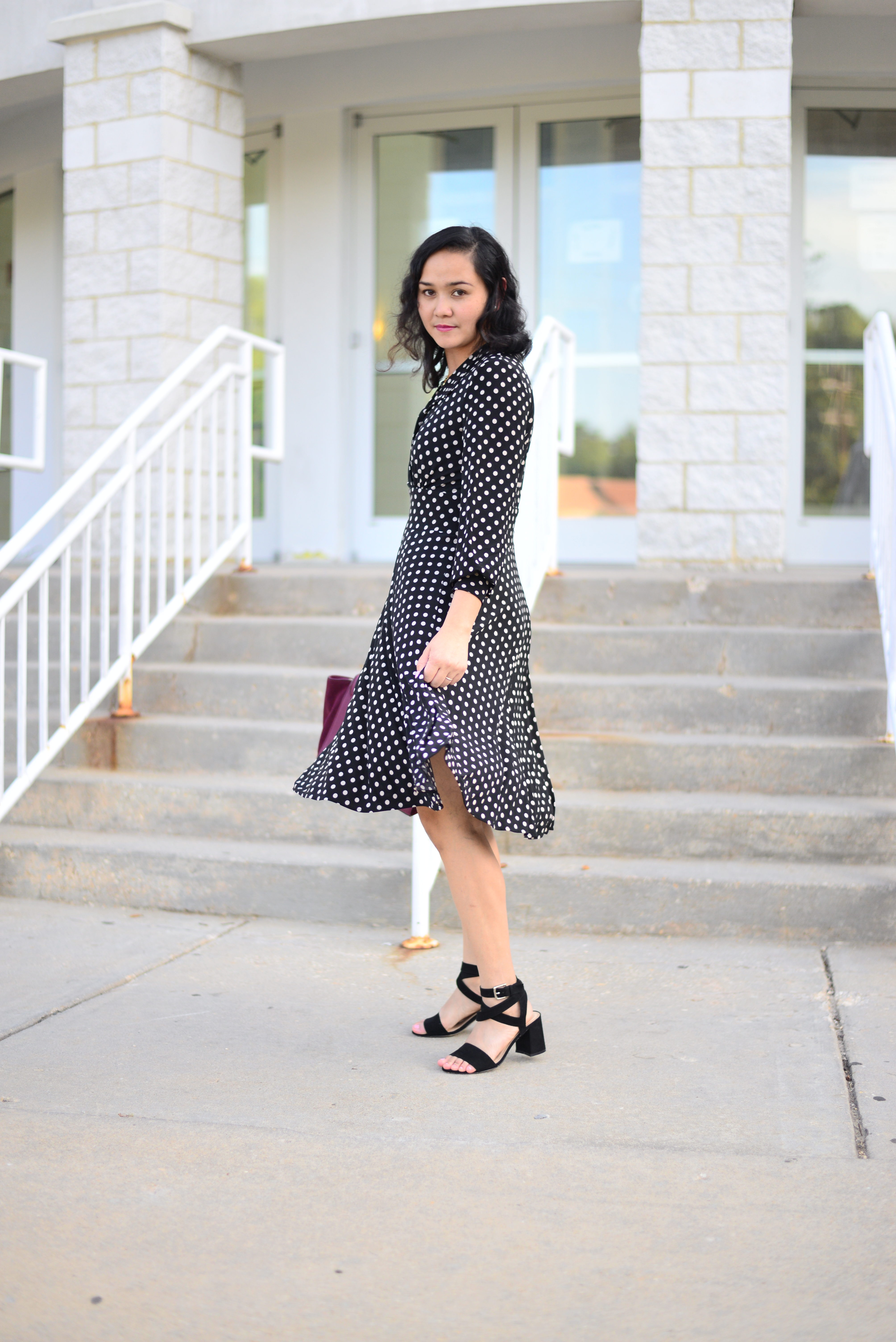 Polka Dot Dress for Fall