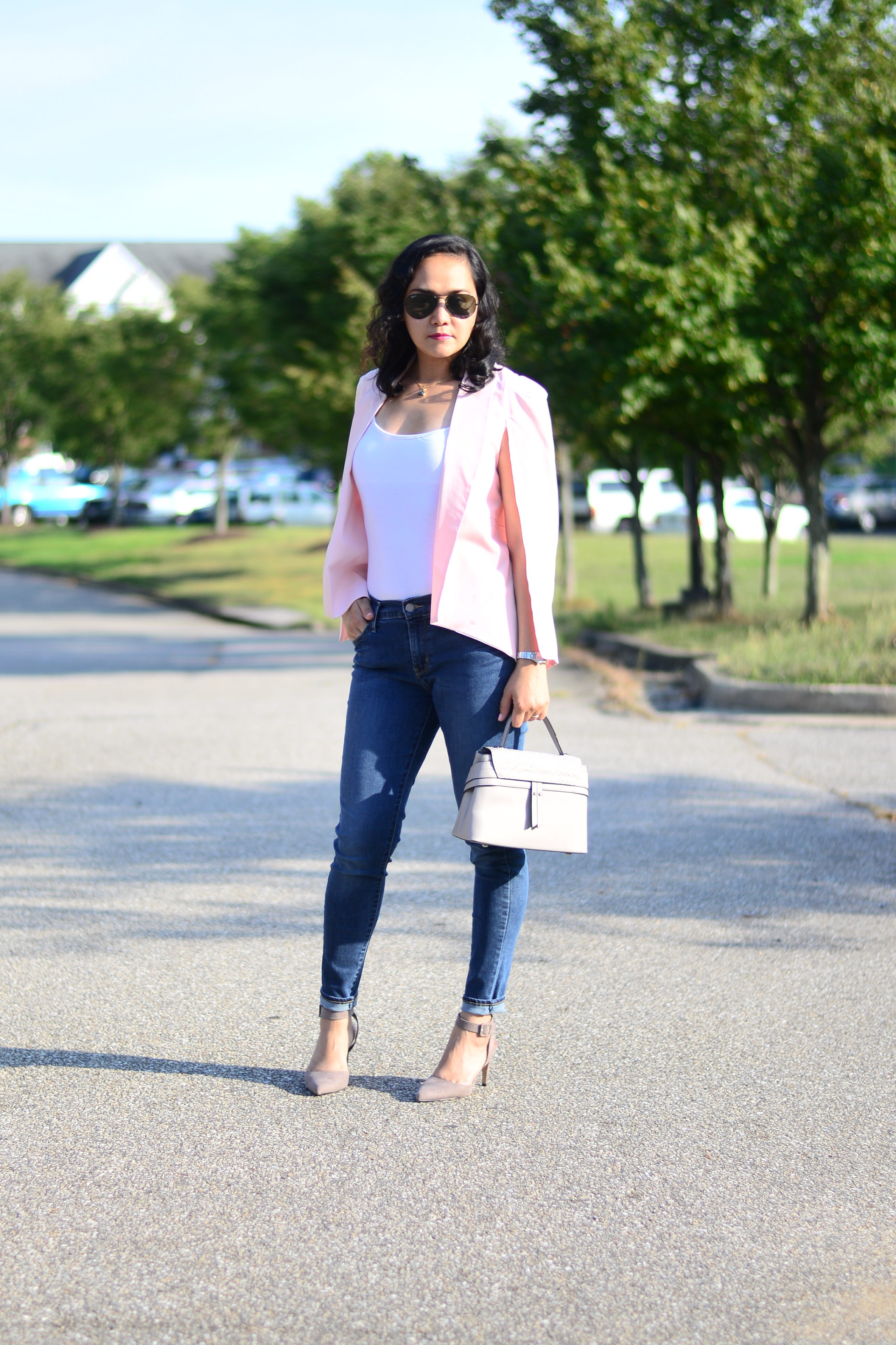 Fall Style: Shawl Collar Cape Blazer