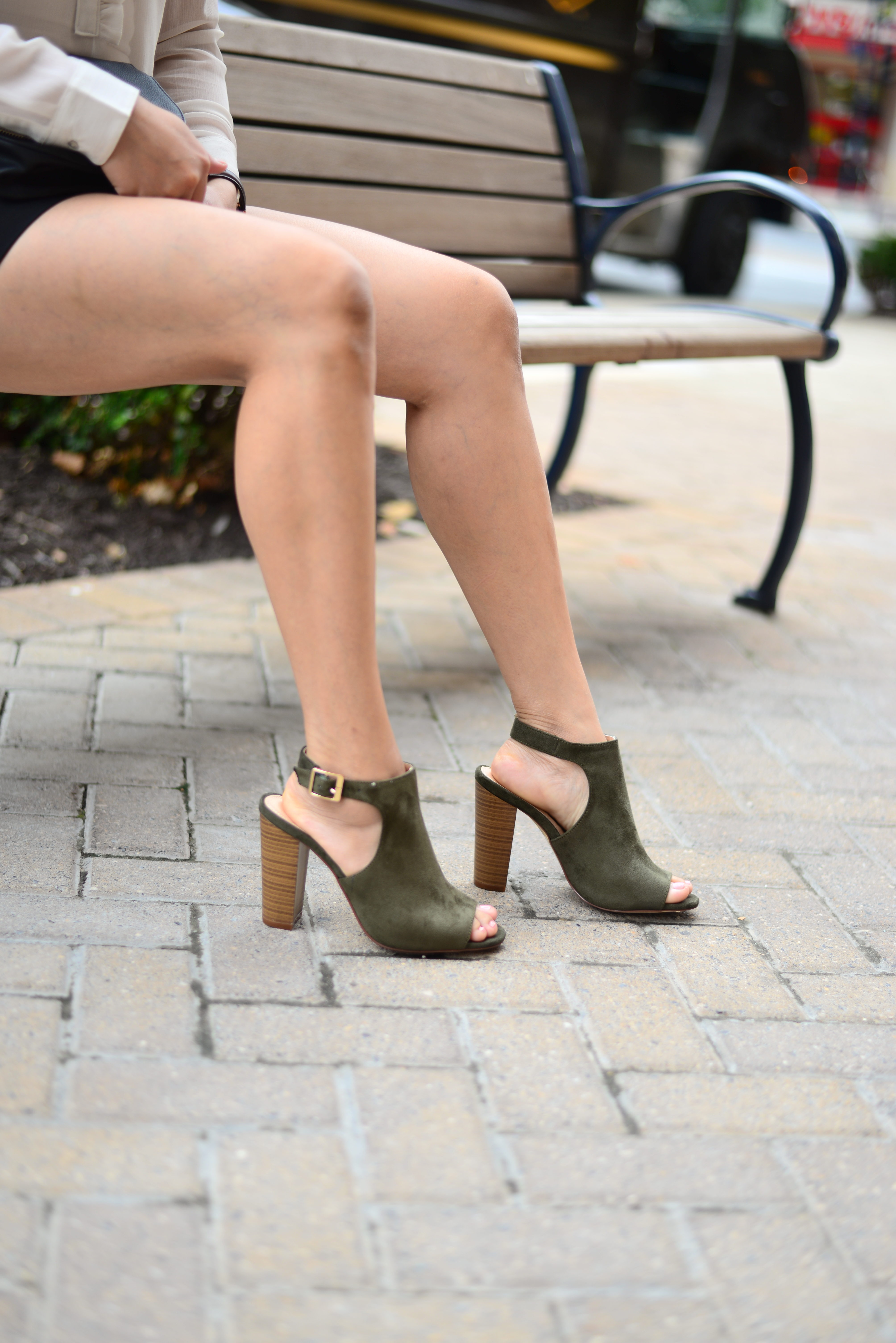 Shorts and Peep Toe Booties