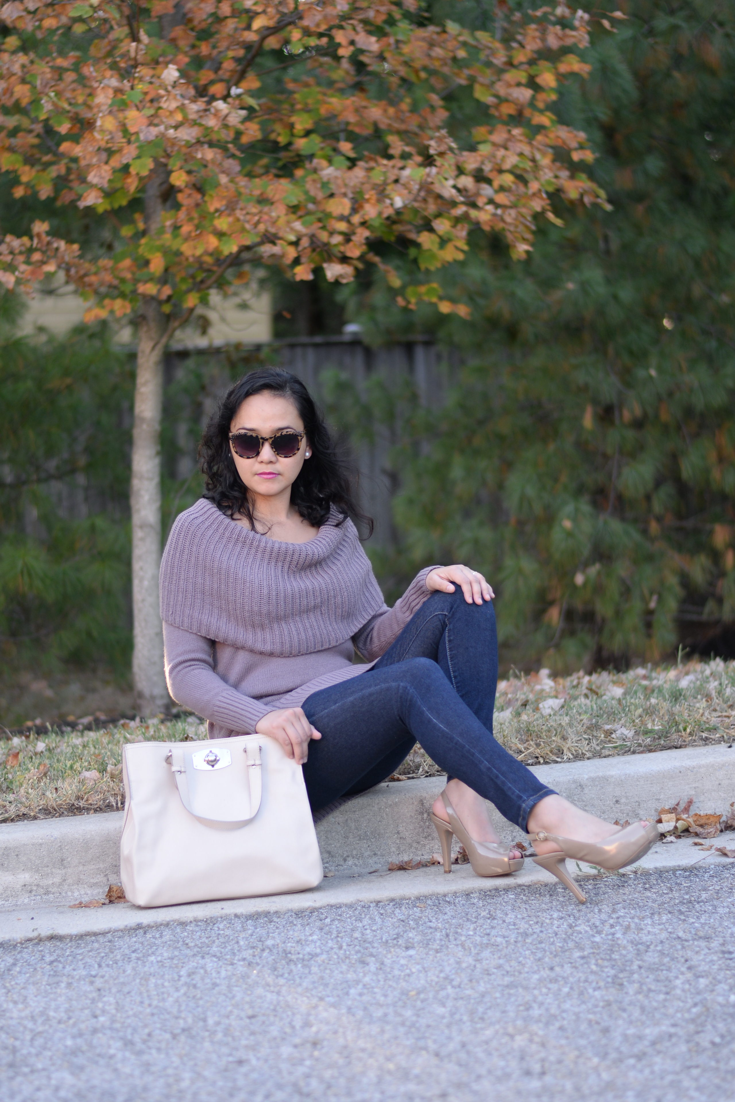 3 Ways to Style a Cowl Neck Sweater
