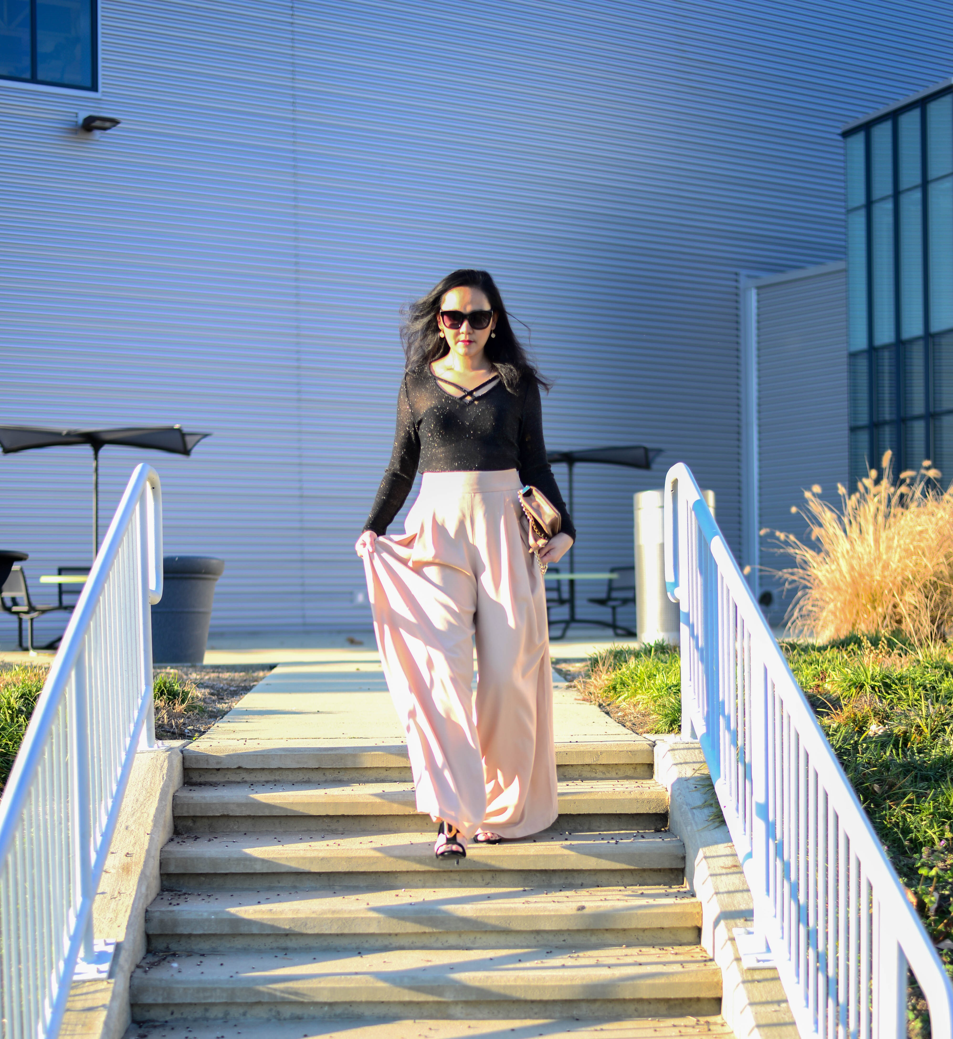 Holiday Glam in Palazzo Pants