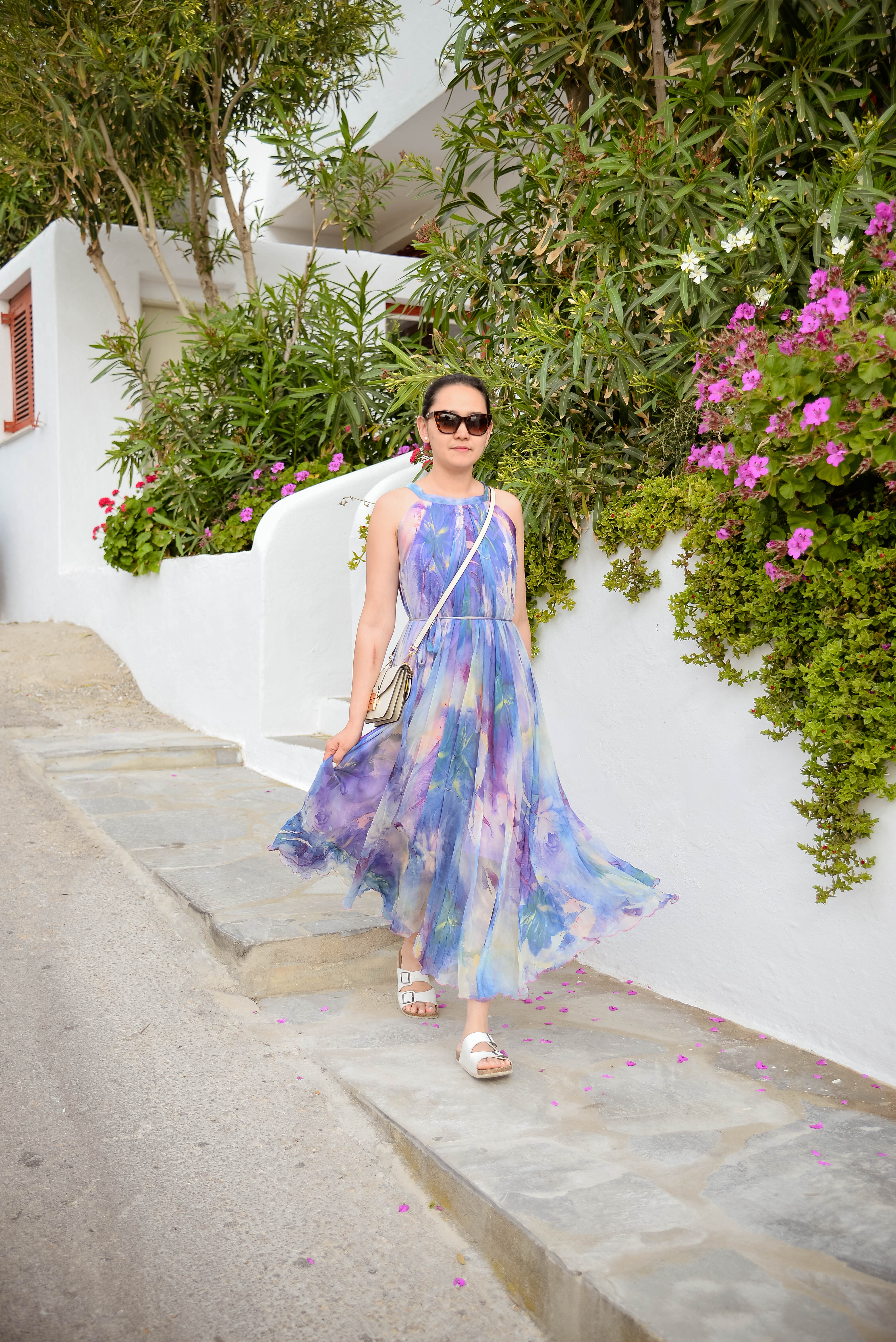 Beach Day in Mykonos with my Perfect All Day Maxi Dress