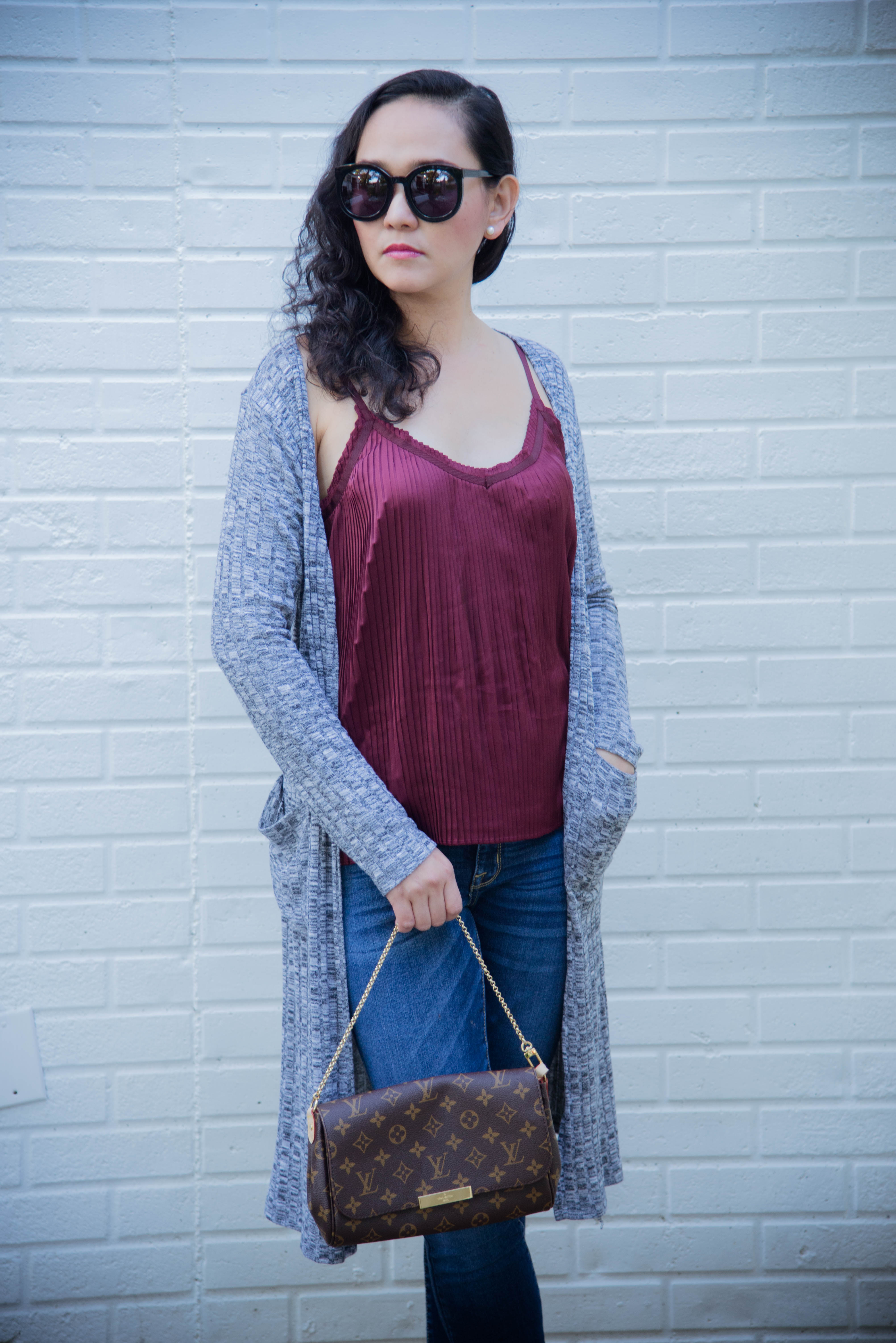 Fall Layering with a Pop of Chic Red Velvet