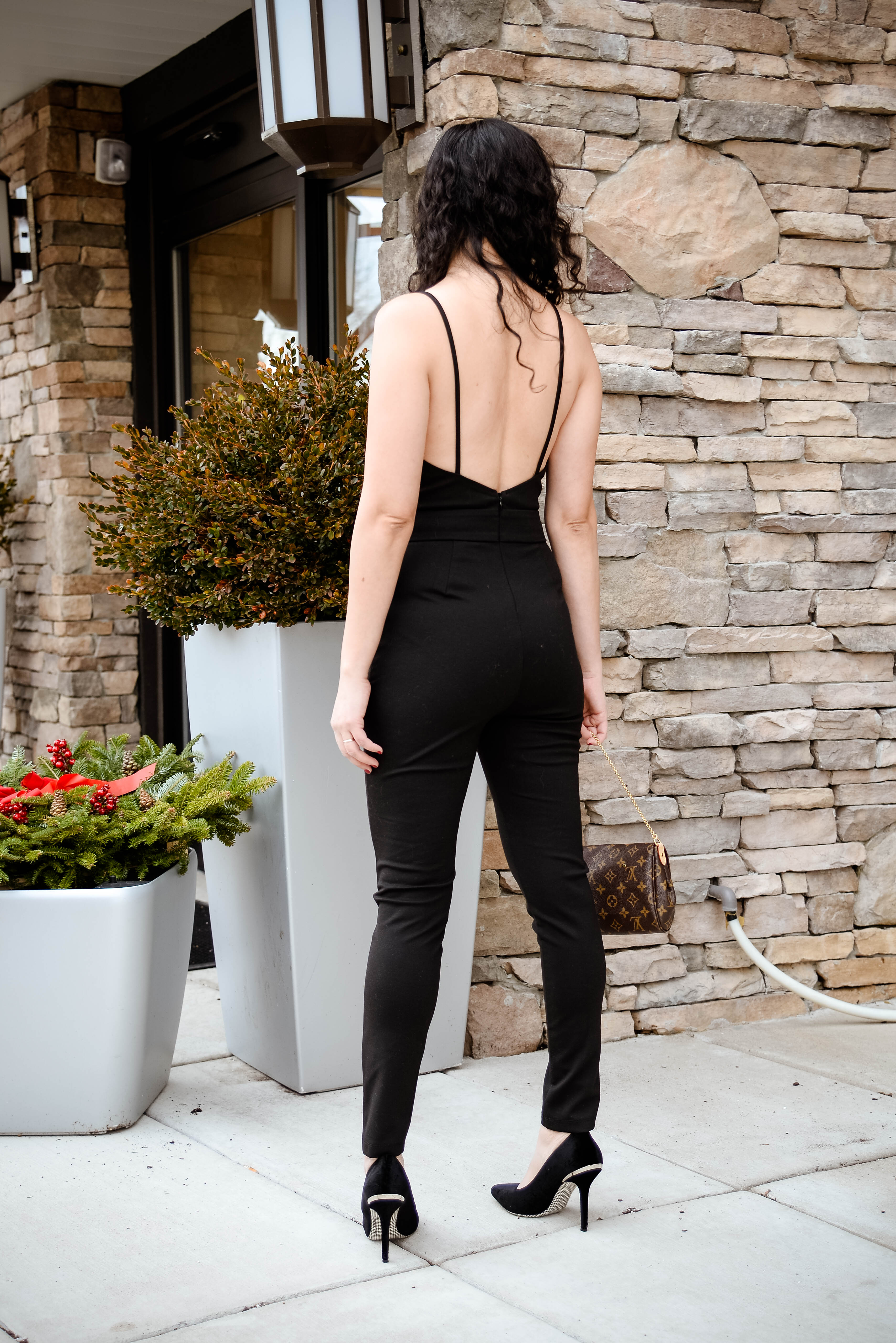 NYE Outfit Number 1: Tobi Black Jumpsuit